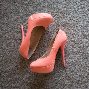 Charlotte Russe bright coral heels